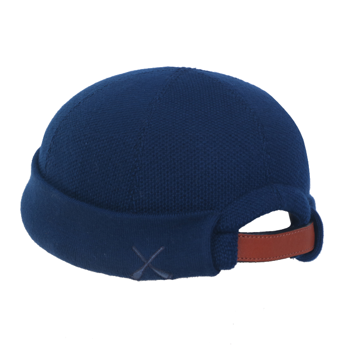 Béton Ciré Knitted Miki Sailors Hat Navy