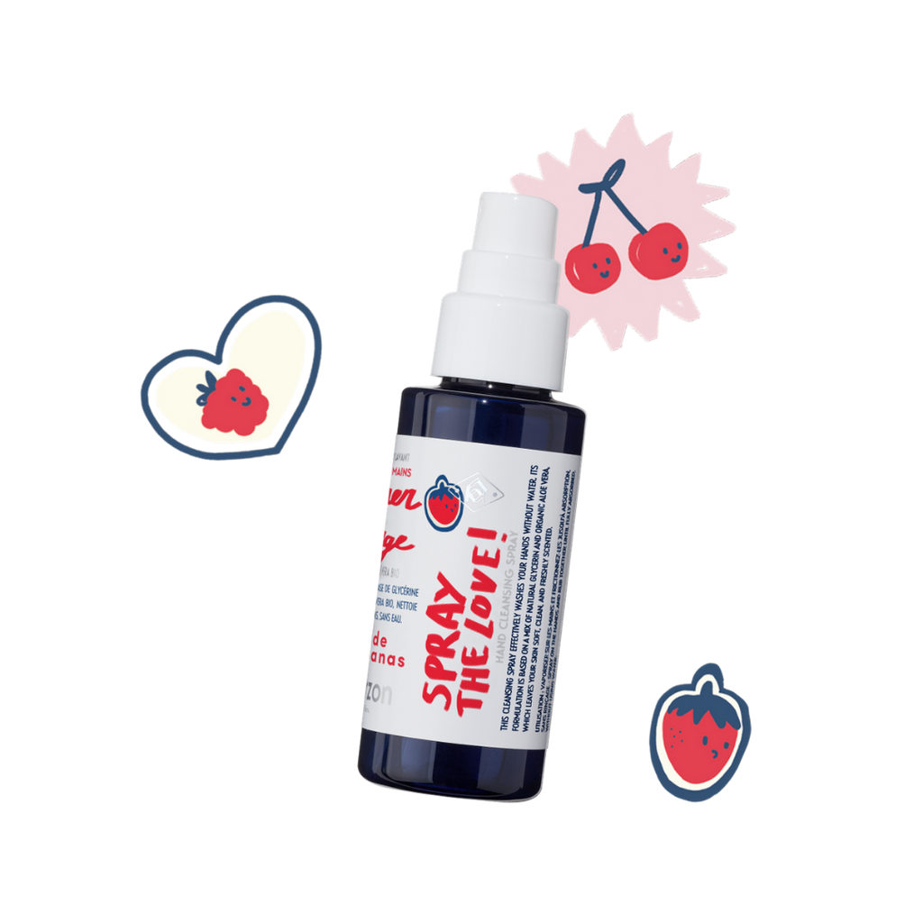 Kerzon 3-Pack Hand Spray 'Super Rouge' Cherry & Raspberry