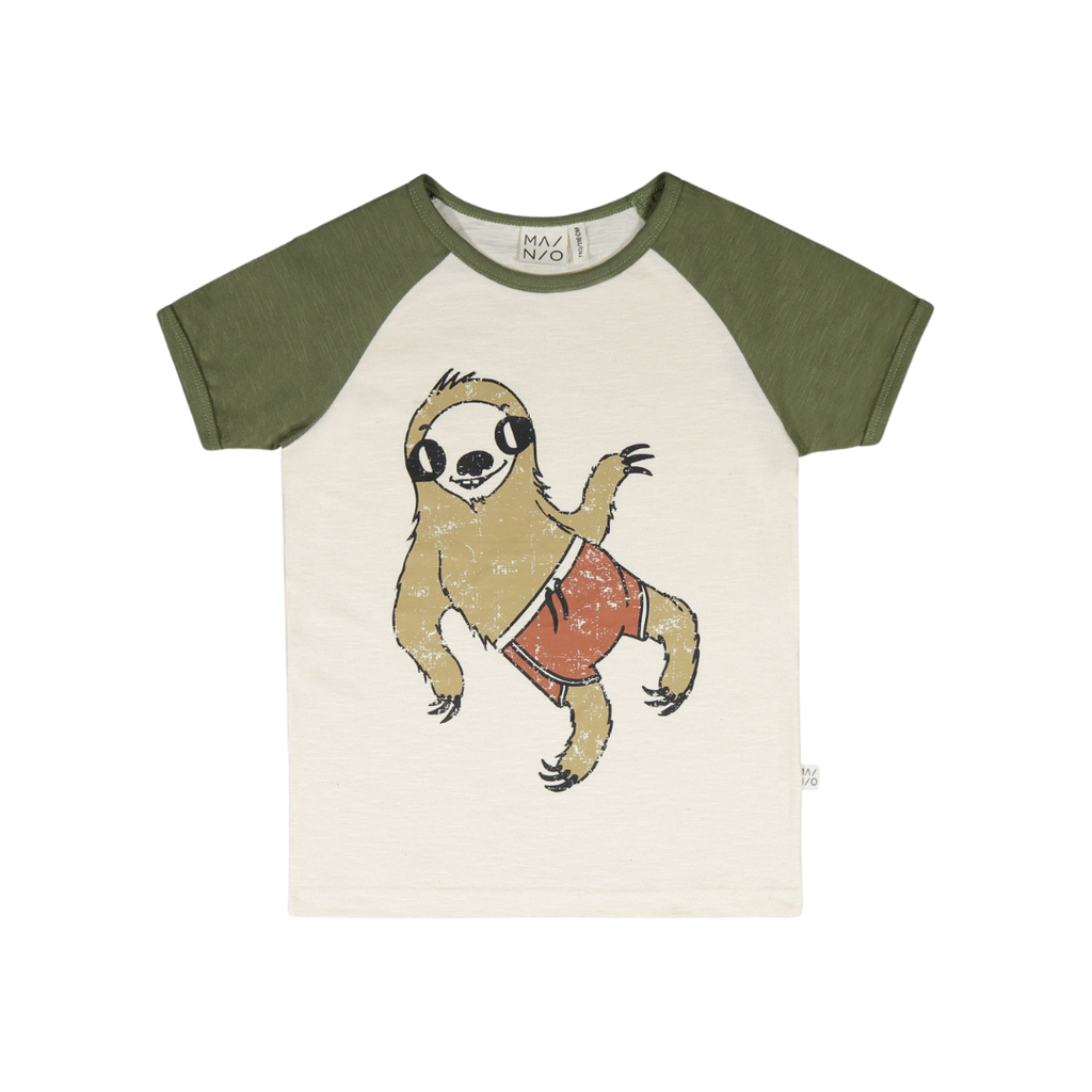 Mainio Baby Organic Cotton Beach Bum Raglan Tee