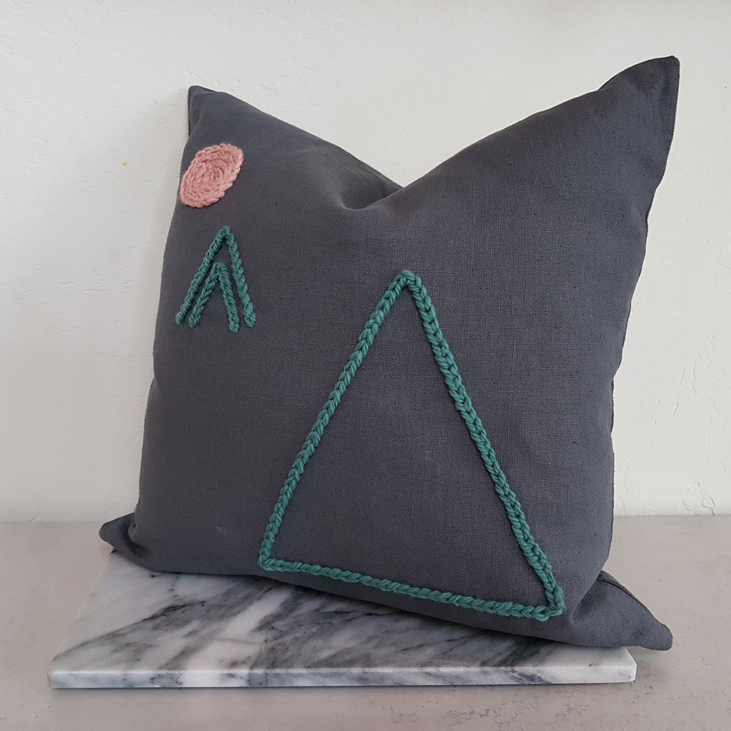 Plinth Home Tribes Cushion Charcoal