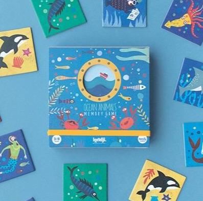 Londji Ocean Animals Recycled Paper Memory Game