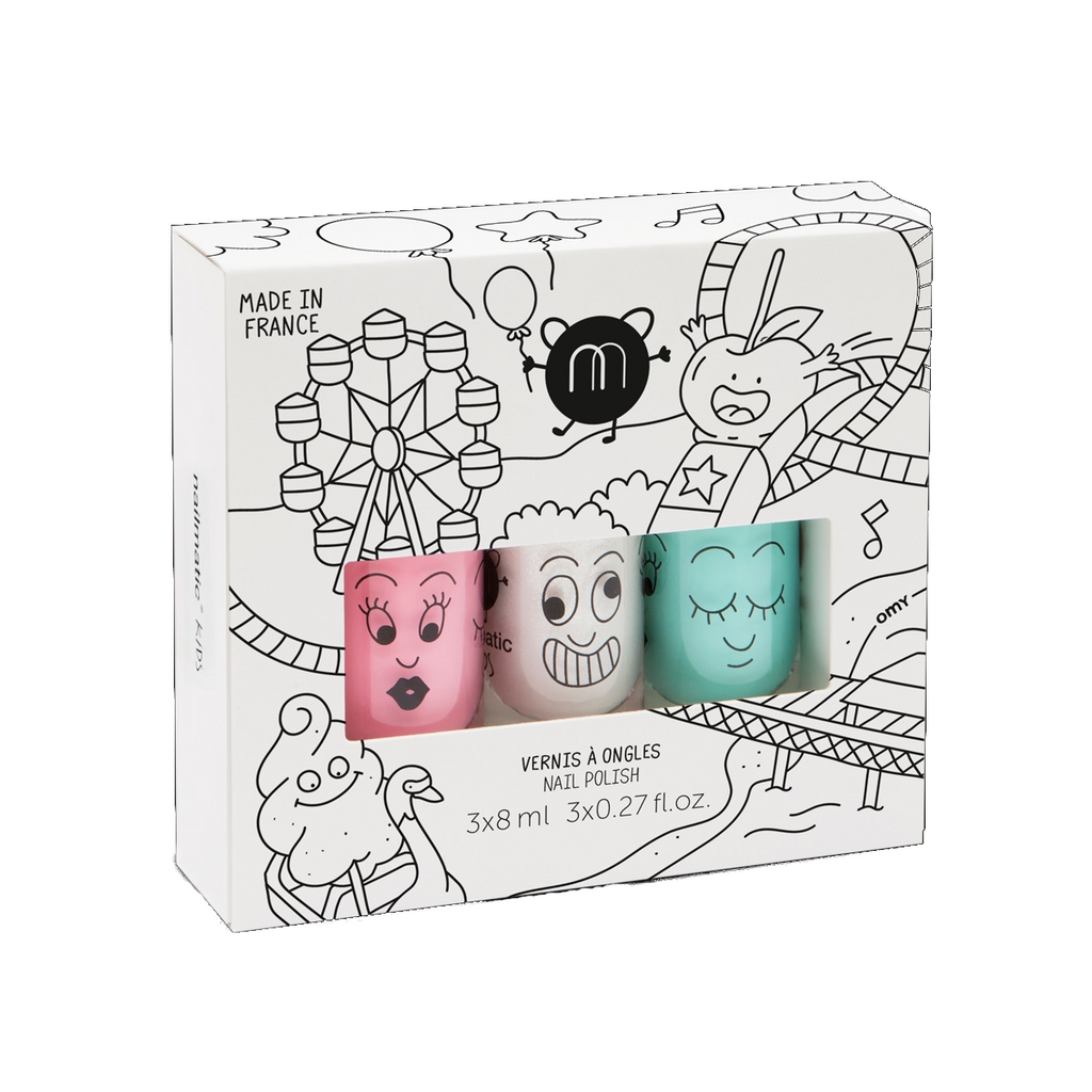 Nailmatic Kids Funfair 3-Pack Wash-Off Nail Varnish
