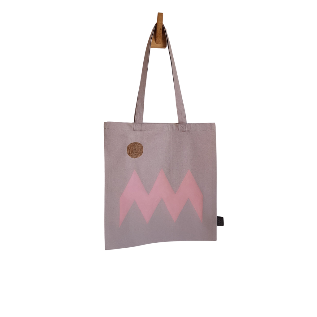 Plinth Home Grey Zig Zag Tote Bag