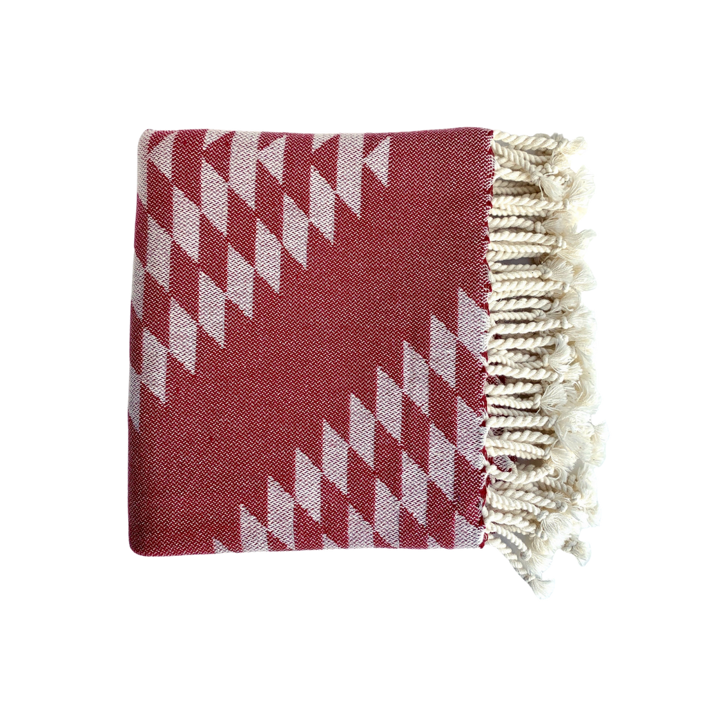Bon Bini Bengé Wrap and Throw Burgundy