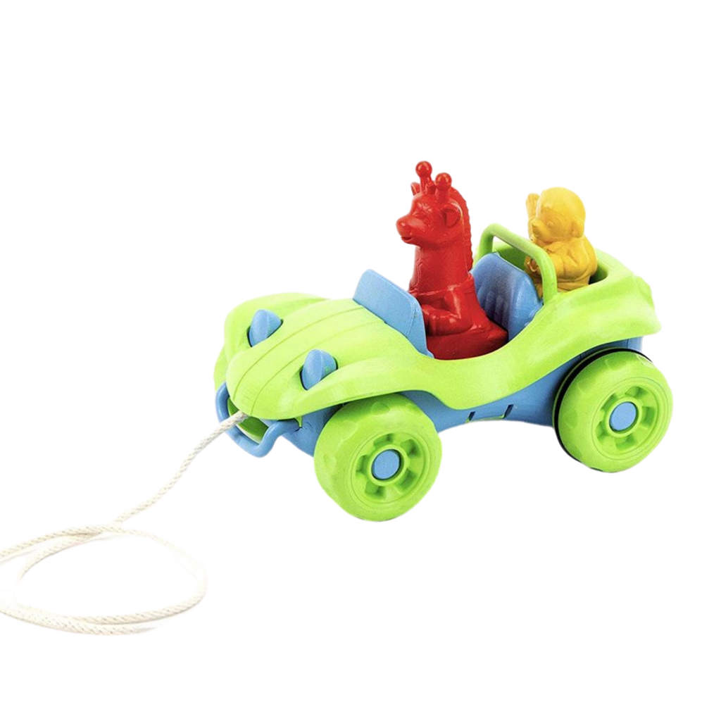 Green Toys Recycled Plastic Dune Buggy Pull Toy  - Green
