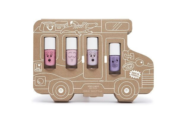 Nailmatic Kids Holidays Van 4-Pack Wash-Off Nail Polish