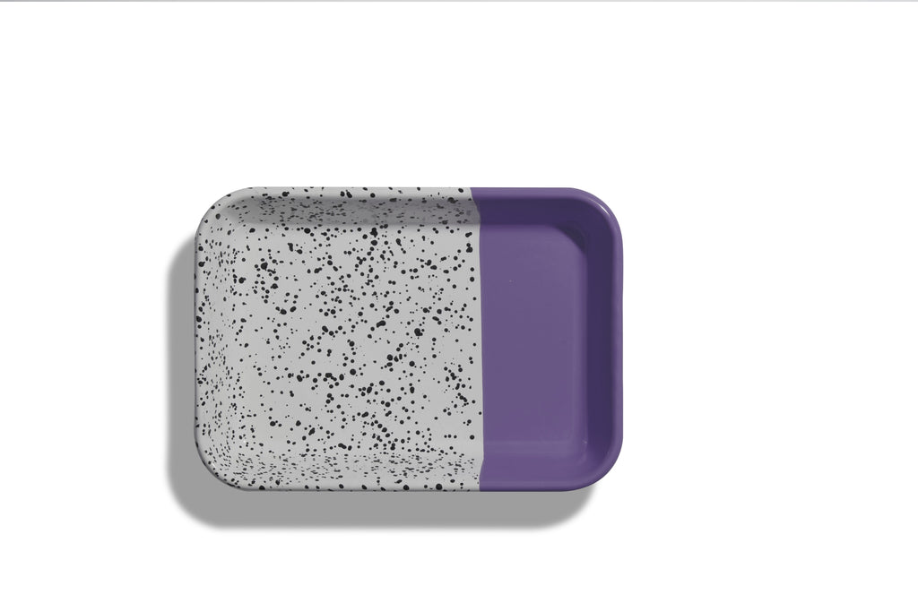 Kapka Mind-Pop Purple Enamel Serving Tray