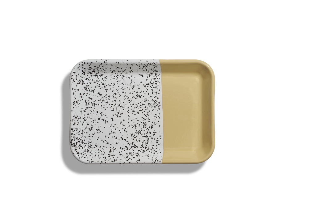 Kapka Mind-Pop Yellow Enamel Tray II