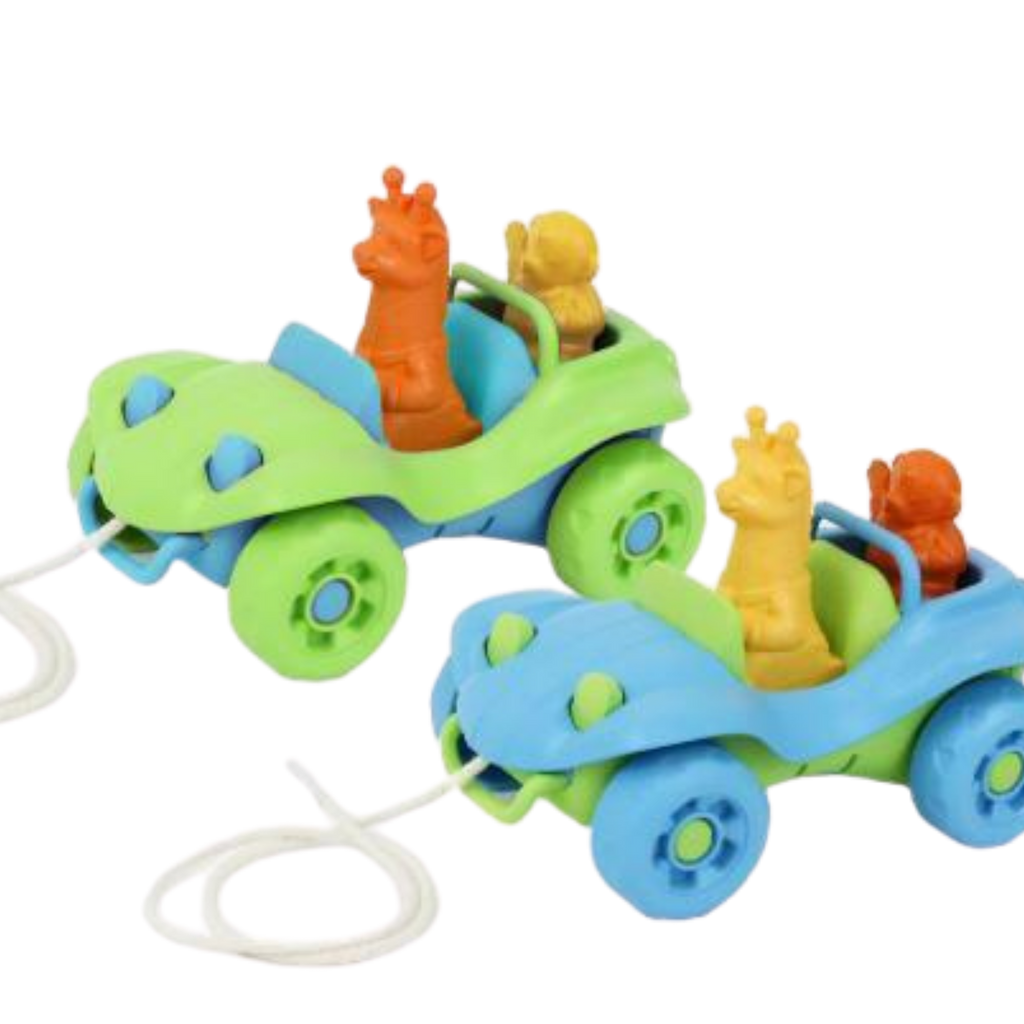 Green Toys Recycled Plastic Dune Buggy Pull Toy  - Blue