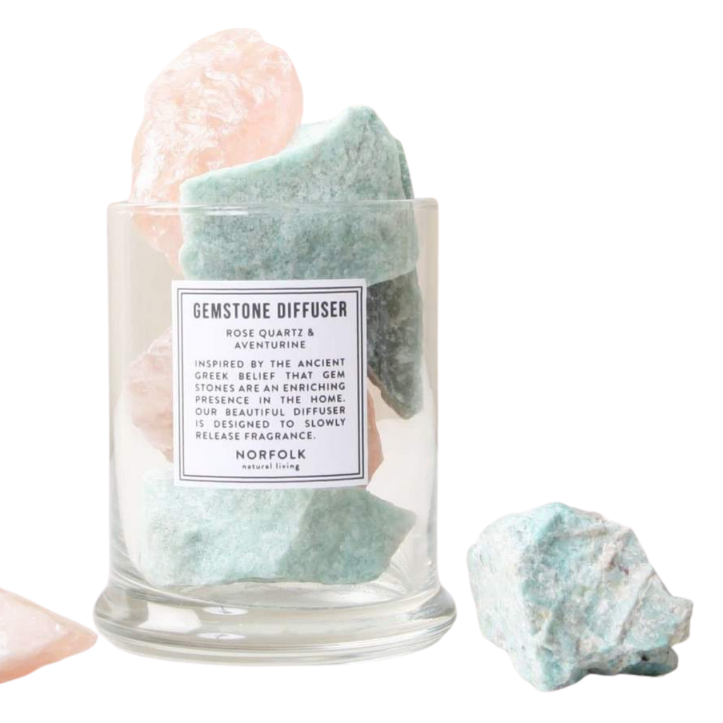 Norfolk Natural Living Rose Quartz & Green Aventurine Gemstone Diffuser