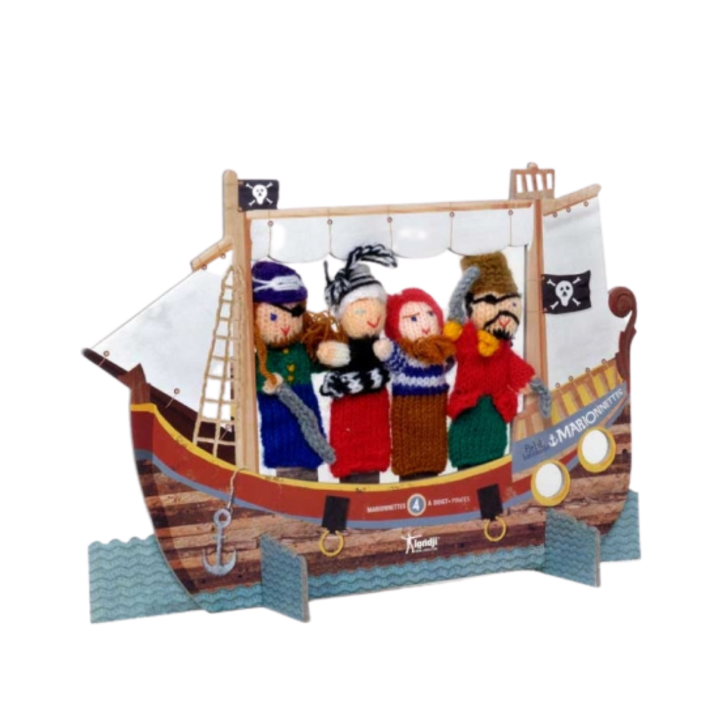 Londji Pirate Wool Finger Puppet set