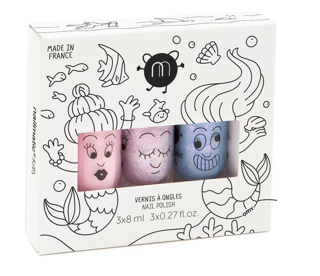Nailmatic Kids Mermaid 3-Pack Wash-Off Nail Polish
