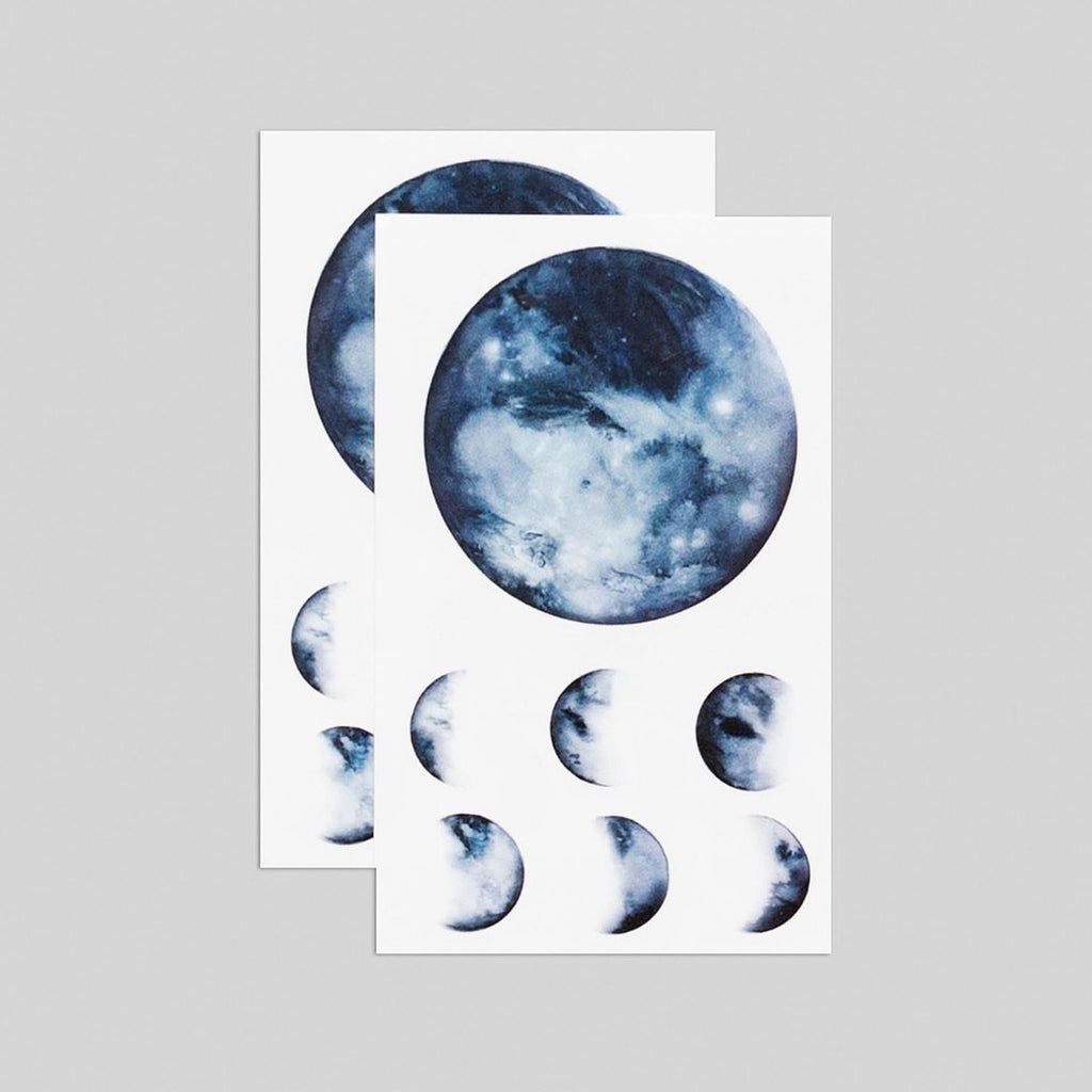 Tattly 2-Pack Moon Phases Tattoo