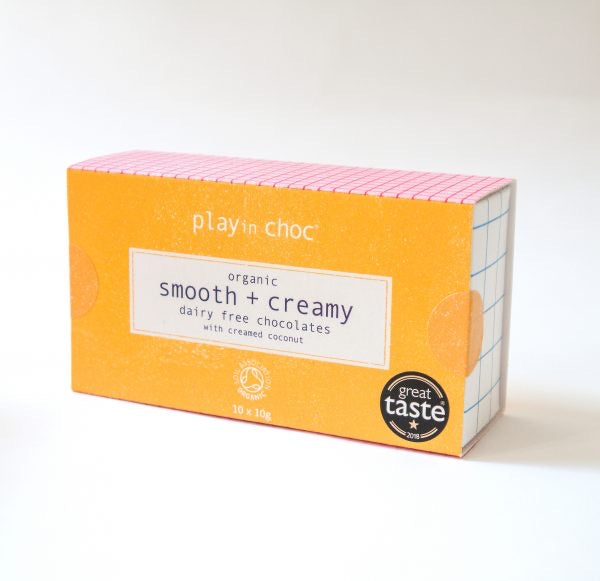 Playin Choc 2-Pack Organic Smooth & Creamy Dairy Free Chocolates