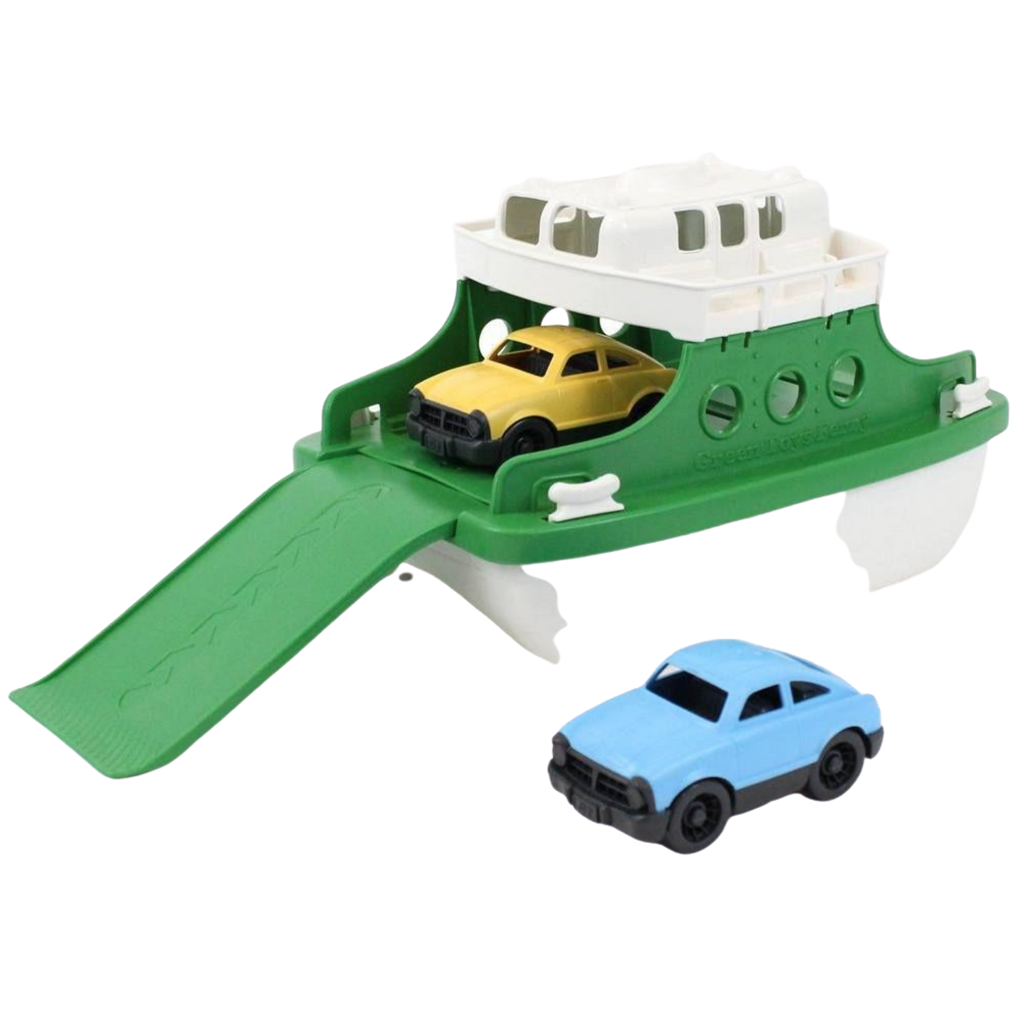 Green Toys Recycled Plastic Ferry Boat With Cars - Green