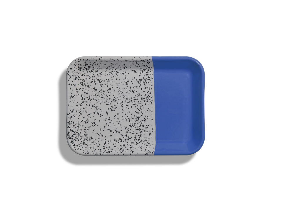 Kapka Mind-Pop Cobolt Blue Enamel Tray II