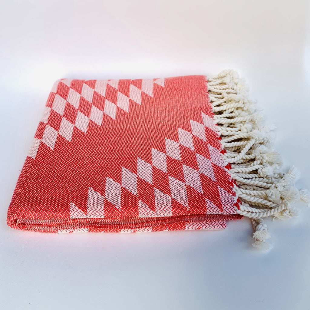 Bon Bini Bengé Wrap and Throw Coral