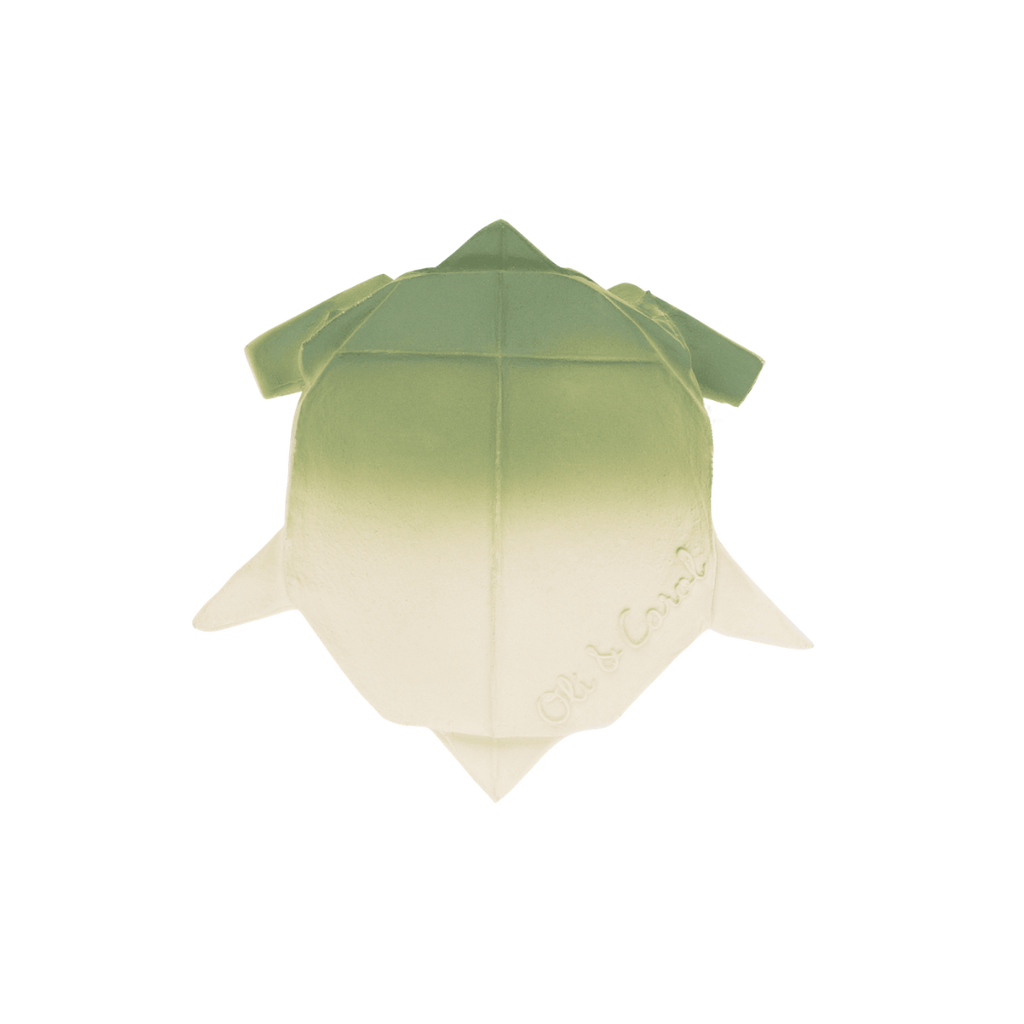 Oli & Carol H2Origami Natural Rubber Turtle Toy