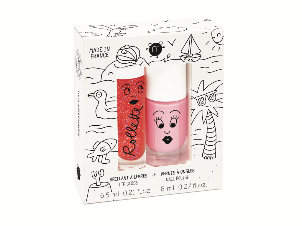 Nailmatic Kids Nail Polish and Lip Gloss Holidays Duo