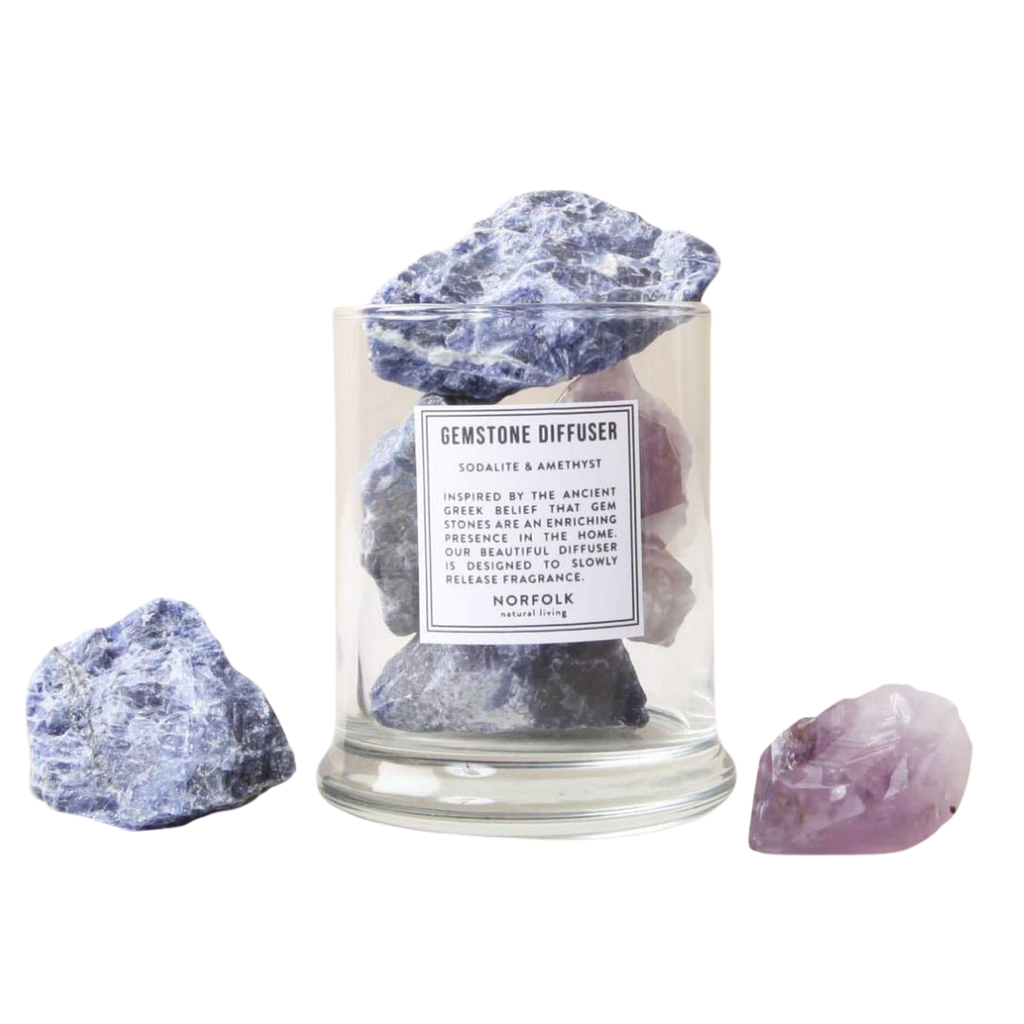 Norfolk Natural Living Sodalite & Amethyst Gemstone Diffuser