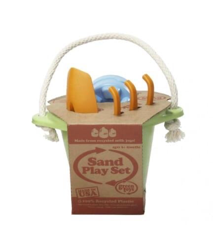 Green Toys Recycled Plastic Sand Play Set - Green