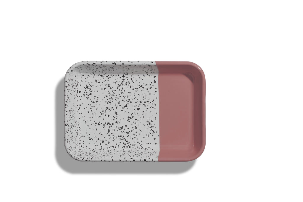 Kapka Mind-Pop Pink Enamel Serving Tray
