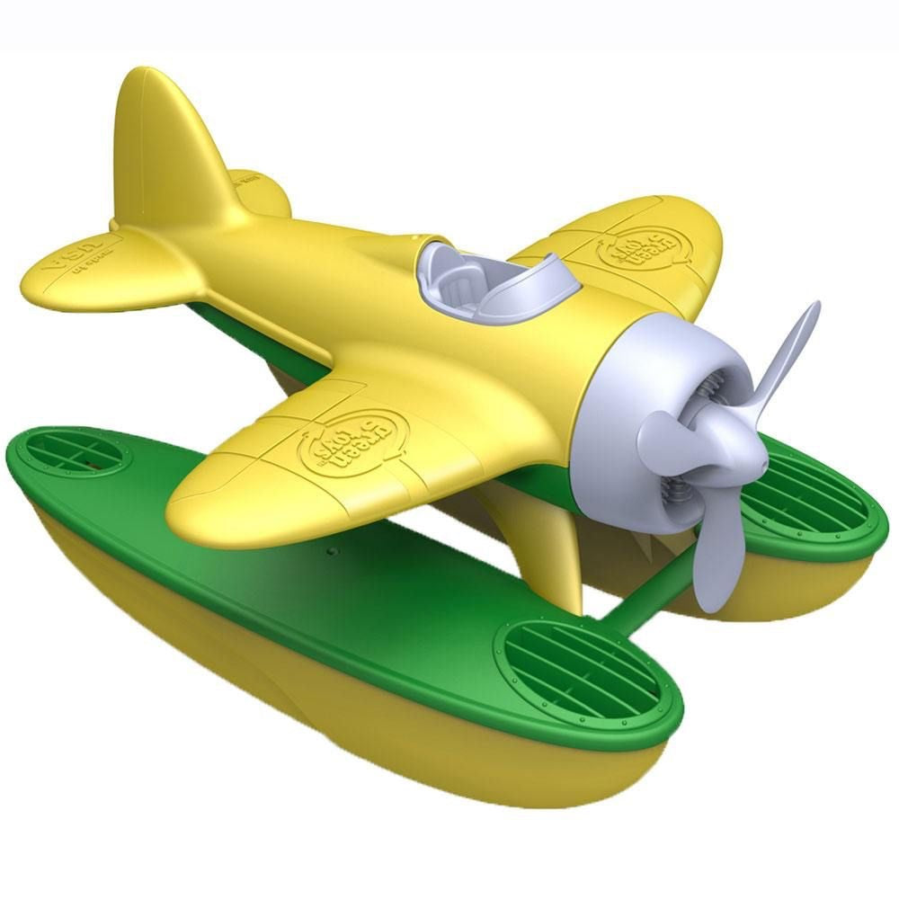 Green Toys Recycled Plastic Seaplane - Yellow Wings