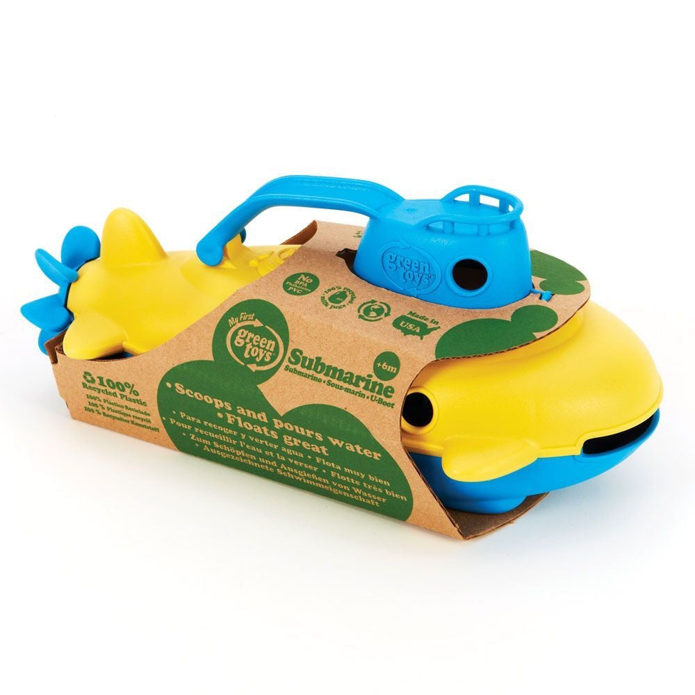Green Toys Recycled Plastic Submarine Blue Handle