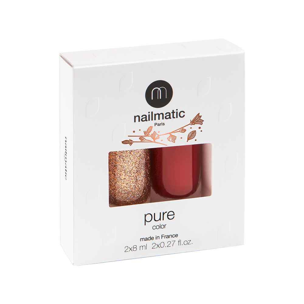 Nailmatic PURE 2-Pack Vegan Nail Polish Marilou & Stella