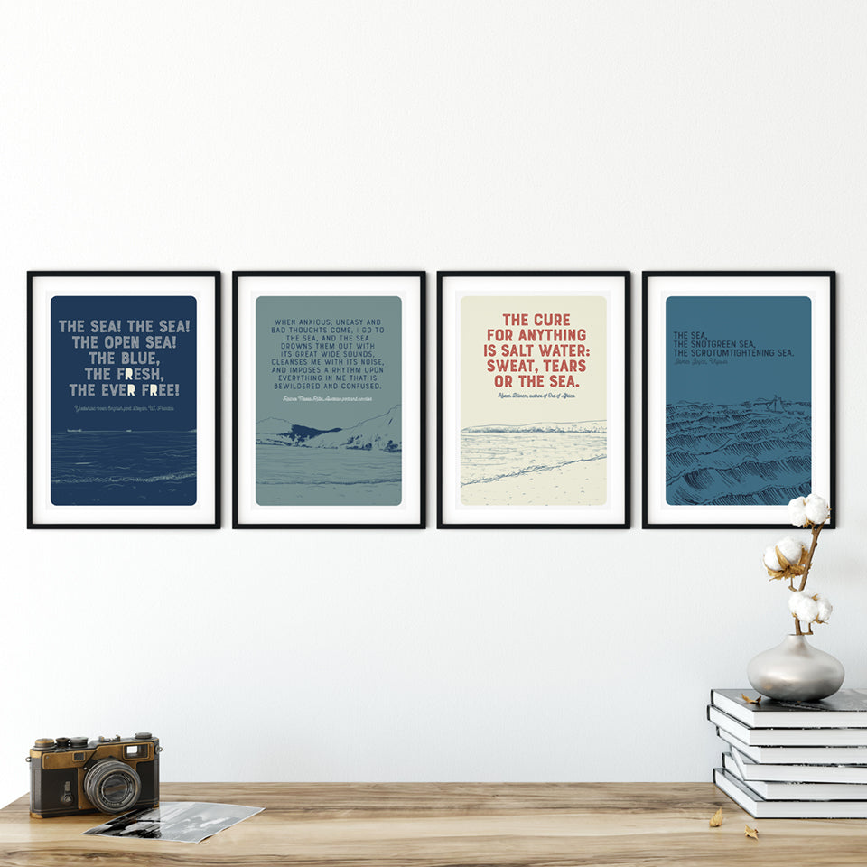 Marsha By The Sea  'The Cure For Anything' A3 Print