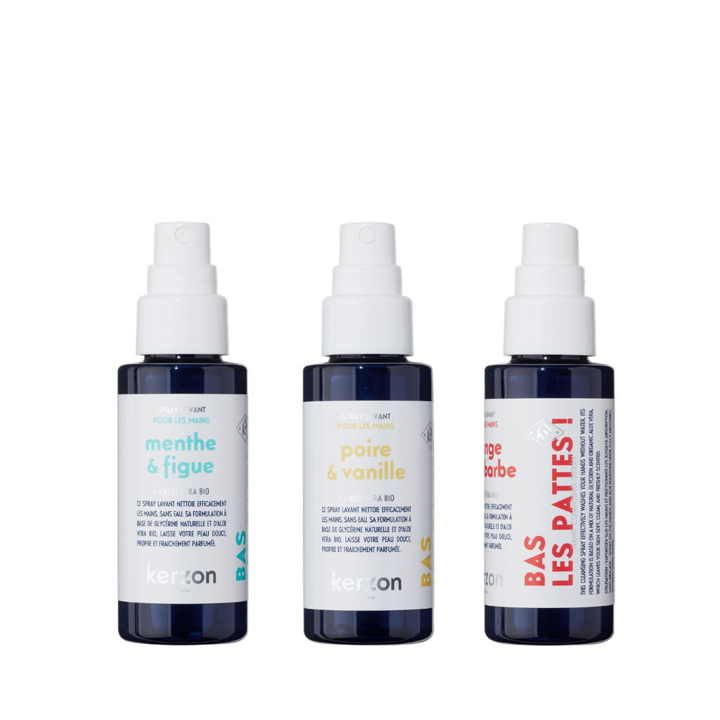 Kerzon Pack of 3 Natural Hand Sprays