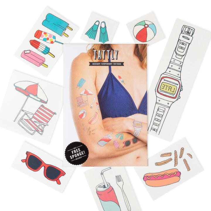 Tattly 8-Pack Boardwalk Tattoo Collection