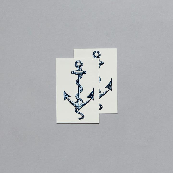 Tattly 2-Pack Cartolina Anchor Tattoo