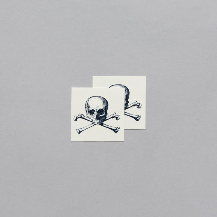 Tattly 2-Pack Cartolina Skull Tattoo