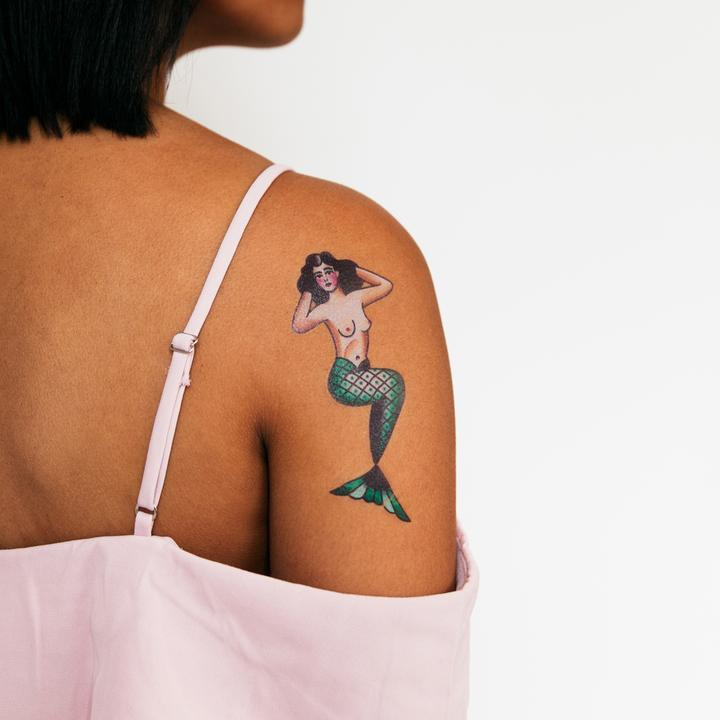 Tattly 2-Pack Mermaid Tattoo