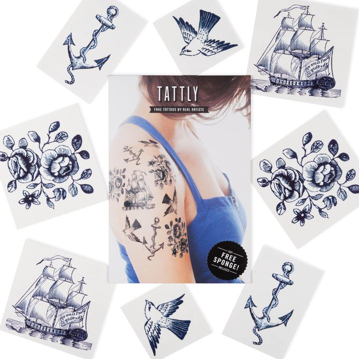 Tattly 8-Pack Nautical Tattoo Collection