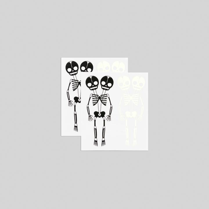 Tattly 2-Pack Glow-in-the-Dark Skeletons Tattoos