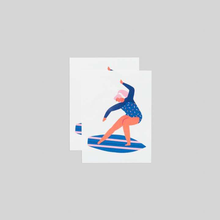 Tattly 2-Pack Surfer Girl Tattoo