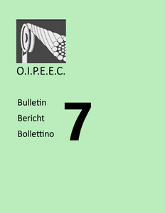Bulletin 7 - News and Working Groups 1966