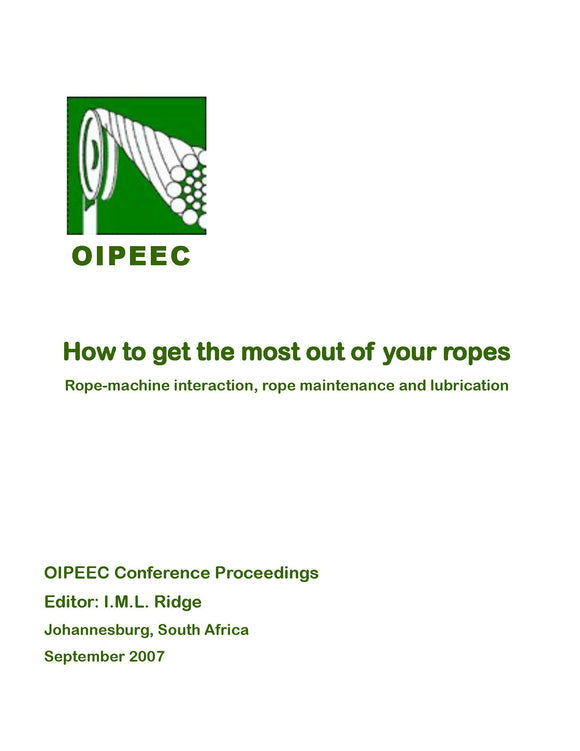 Managing and lubricating ropes with oil