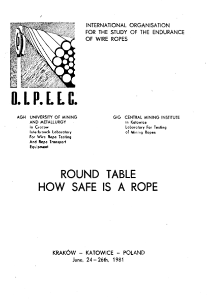 SOME COMIMENTS ABOUT A MODEL OF A HOISTING ROPE