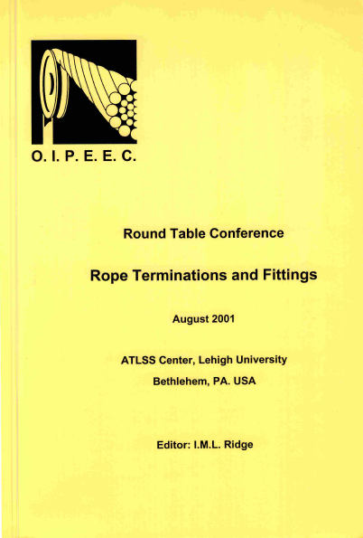 Rope termination performance in free bending fatigue test