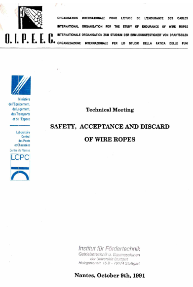 An approach to the fatigue life prediction  of large diameter wire ropes