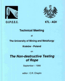 Measurement of abrasive wear on wire ropes using non-destructive electro-magnetic inspection