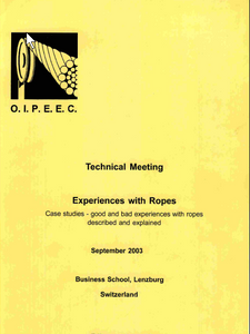 Integrated methods for testing and assessment of safety condition of steel wire ropes