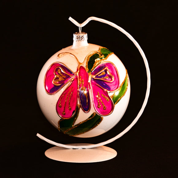 Butterfly hand decorated ornament
