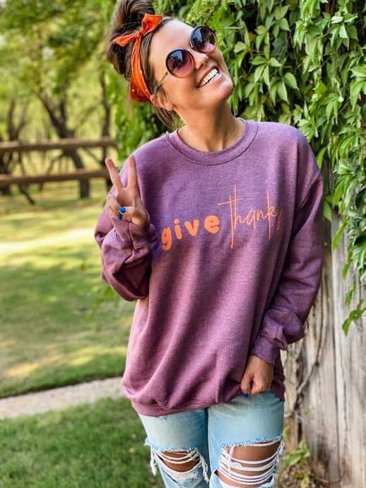 """Give Thanks"" Pullover"
