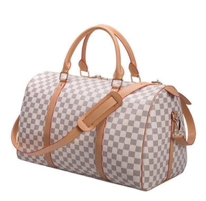 """White Checkered"" Duffle"