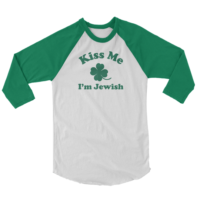 Kiss Me I'm Jewish St. Patrick's Day The T-Shirt Deli, Co. SMALL