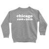 Kids Chicago 1908 & 2016 Kids Pullover The T-Shirt Deli, Co. 2T